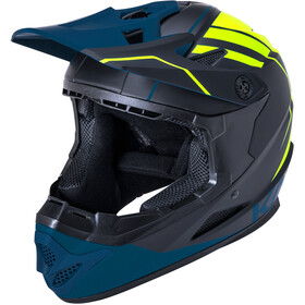Kali Zoka Helm Herren black/fluo yellow/teal